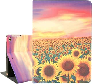 Sunflower iPad 9.7 Case, Cute iPad Air 9.7 Case, Sunset Glow Smart Tablet Case for iPad Air 1/2 6th/5th Gen 2018 2017 with Auto Sleep Wake Function