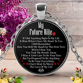 Great Idea For Wife gifts Necklace – To My Wife Pendant - MY FUTURE WIFE - Wedding Anniversary Gifts, welder gifts, Birthday gifts, Husband Gifts.
