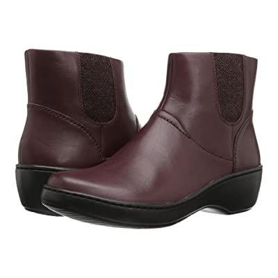 Clarks Delana Joleen (Burgundy Leather) Women