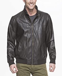 cheap mens brown leather jacket