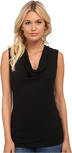 Shine Sleeveless Drape Neck
