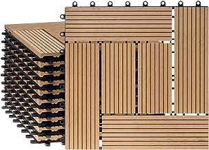 Ventanara WPC-terrastegels, vloertegels, terrasbedekking, kliktegels