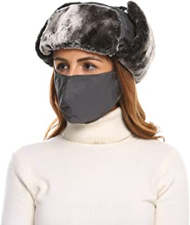 Shine Unisex Winter Trapper Trooper Russian Hat with Windproof Mask