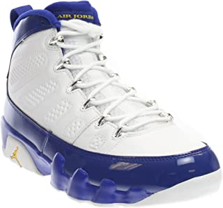 buy popular 5647e aa32c NIKE Mens Air Jordan 9 Retro White Tour Yellow-Concord Leather Size 10