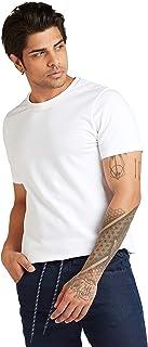 Iconic Men's 2300507 POPCORN TEE Cotton T-Shirt, White