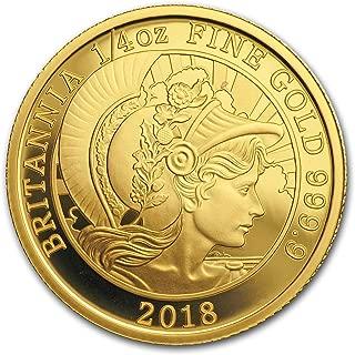 2018 UK Great Britain 1/4 oz Proof Gold Britannia Gold Brilliant Uncirculated