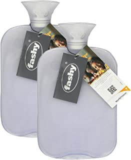 Transparent Classic Hot Water Bottle - Made in Germany (Clear- 2pk)