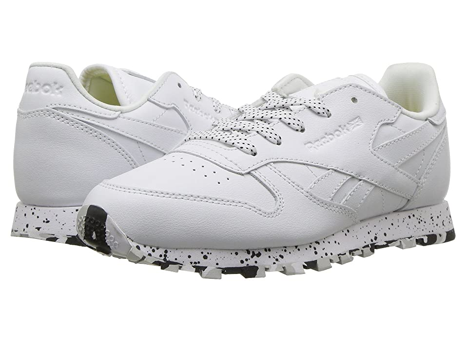 Reebok Kids Classic Leather (Little Kid) (White/Black) Kids Shoes