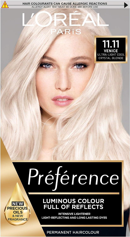 LOreal Preference Tinte permanente para el cabello, 11. Muy claro cristal rubio