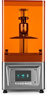 ELEGOO Mars UV Photocuring LCD 3D Printer with 3.5'' Smart Touch Color Screen Off-line Print 4.53in(L) x 2.56in(W) x 5.9in(H) Printing Size Silver Version