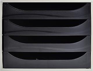 Exacompta - Réf. 2286014D – Module à tiroirs ECOBOX - Caisson individuel à 4 tiroirs pour document A4 maxi - Certifié Ange...