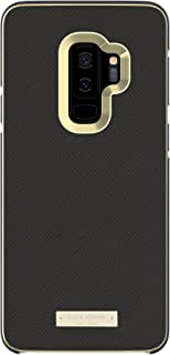 kate spade new york Wrap Case for Samsung Galaxy S9+ - Black Saffiano Black/Gold Logo Plate