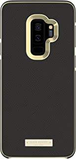 kate spade new york Wrap Case for Samsung Galaxy S9+ - Black Saffiano Black / Gold Logo Plate