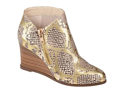 Journee Collection Comfort Foam Glam Wedge Bootie (Gold) Women