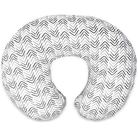 Boppy Original Nursing Pillow & Positioner, Gray Cable Stitches, Cotton Blend Fabric with Allover Fashion, Grey