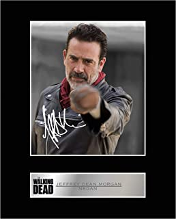iconic pics Jeffrey Dean Morgan, Negan Signed Mounted Photo Display Walking Dead