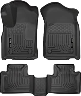 Husky Liners 99151 Black Weatherbeater Front & 2nd Seat Floor Mats Fits Dodge Durango, 2016-19 Jeep Grand Cherokee