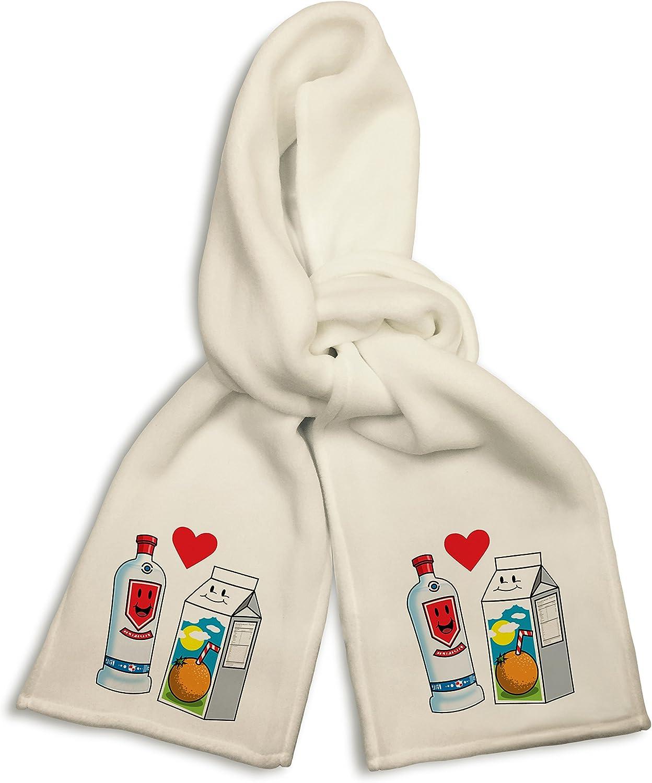 White Winter Scarf - Vodka Loves OJ Orange Juice Cute Couple Meant to Be Screwdriver Graphic