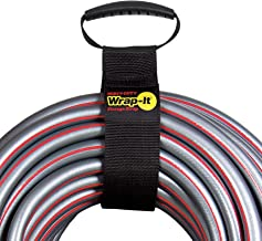 """Easy-Carry Wrap-It Storage Straps - 28"""" (2 Pack) – Heavy-Duty Hook and Loop Cord Carrying Strap, Hanger, and Organizer with Handle for Pool Hoses, Garden Hoses, Cords, Cables and More"""