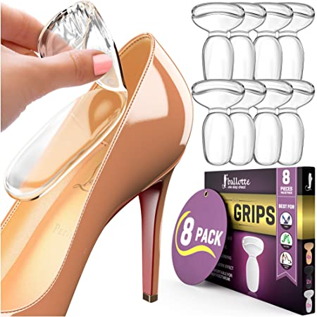 Multicolor Suit 48 Pcs Heel Cushion Pads for Women Heel Shoe Grips Liner Self-Adhesive Shoe Insoles Non-Slip Rubber Adhesive Sole Protector No Slip on Bottom of Shoes Cushion Foot Care Protector