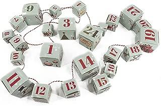 Bambelaa!  Cajas plegables para calendario de adviento, 24 cajas navideñas, cajas plegables colgantes, relleno de cuerda, para navidad