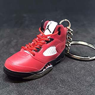 Air Jordan V 5 Retro Raging Bull Toro Red OG Sneakers Shoes 3D Keychain Figure 1:6