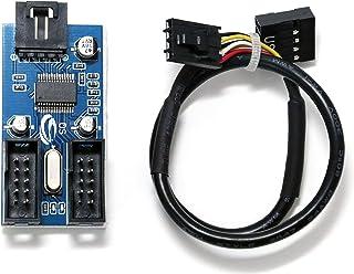 EIALL マザーボードのUSB 9ピン 増設 内部用4ポートUSB2.0 HUB ハブ
