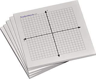 Sticky Note Mini Graph Pads - 10 Count - Graph Paper Sticky Notes 20 x 20 Four Quadrant