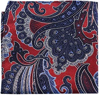 Posh and Dandy Mens Diamond Shape Pocket Square Navy//Multi-colour
