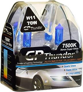 GP Thunder GP75-H11 7500K H11 12V 70W Halogen Xenon Super White Color W/QUAZE Glass (2 Bulbs)