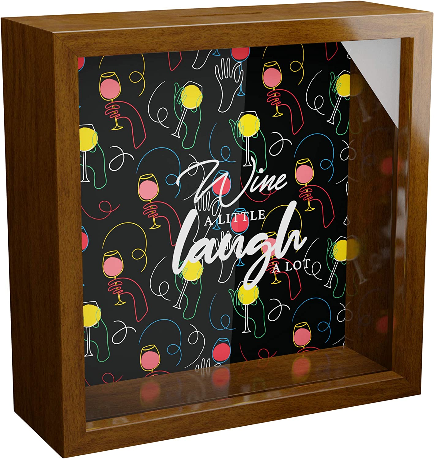 Minneapolis Mall Home Wine Decor Signs Luxury goods Keepsake Picture Glas Box Saying With on