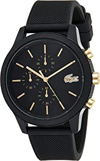 Lacoste Mens Quartz Watch, Analog Display and Silicone Strap 2011012 Black