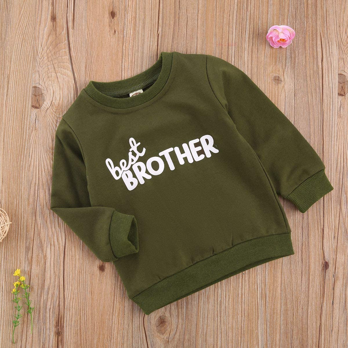 Toddler Infant Baby Girl Boy Letter Print Sweater Long Sleeve Pullover Sweatshirt Top Fall Winter Outdoor Outfit Clothes
