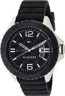 Tommy Hilfiger Men's 1791203 Casual Sport Analog Display Quartz Black Watch