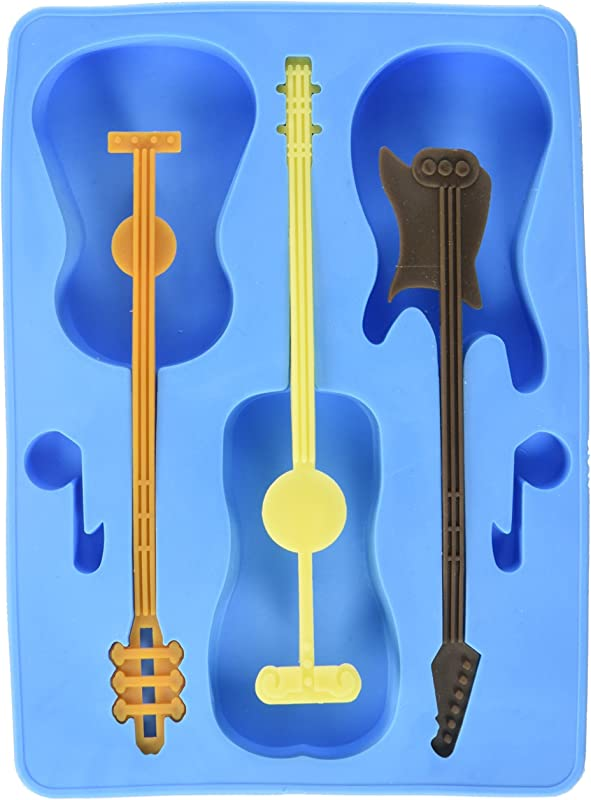 Generic FON 10023 ALT1 Guitar Ice Cube Tray With 3 Stirrers Blue One Size