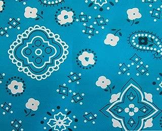 turquoise bandana fabric