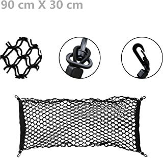 40 x 40cm OFKP Portable Durable Heavy-Duty Elasticated Bungee Luggage Cargo Net Motorcycle Bike Equipment Cargo with Hooks