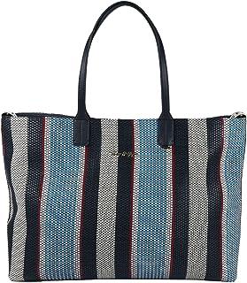 Tommy Hilfiger Damen Handtasche Tasche Iconic Tommy Tote Stripes Mehrfarbig