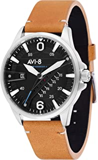 Men's 'Hawker Harrier II' Quartz Stainless Steel and Leather Casual Watch