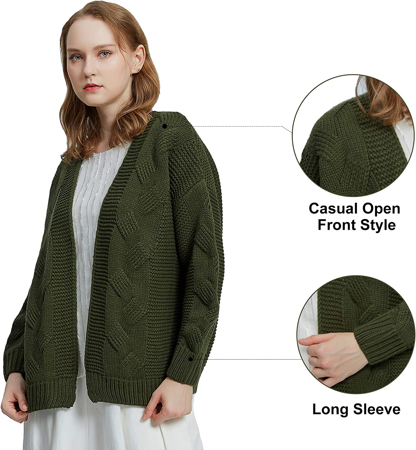 samyama Chunky Cardigans for Women Thick Cozy Women Cardigans Open Front Sweater