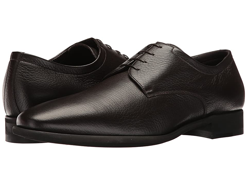 Image of a. testoni Deer Alo Derby (Dark Brown) Men's Shoes