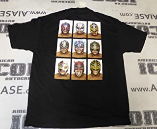 Rey Mysterio Signed WWE Shirt COA Pro Wrestling Masks 619 XL Autograph - PSA/DNA Certified - Autographed Wrestling Miscellaneous Items