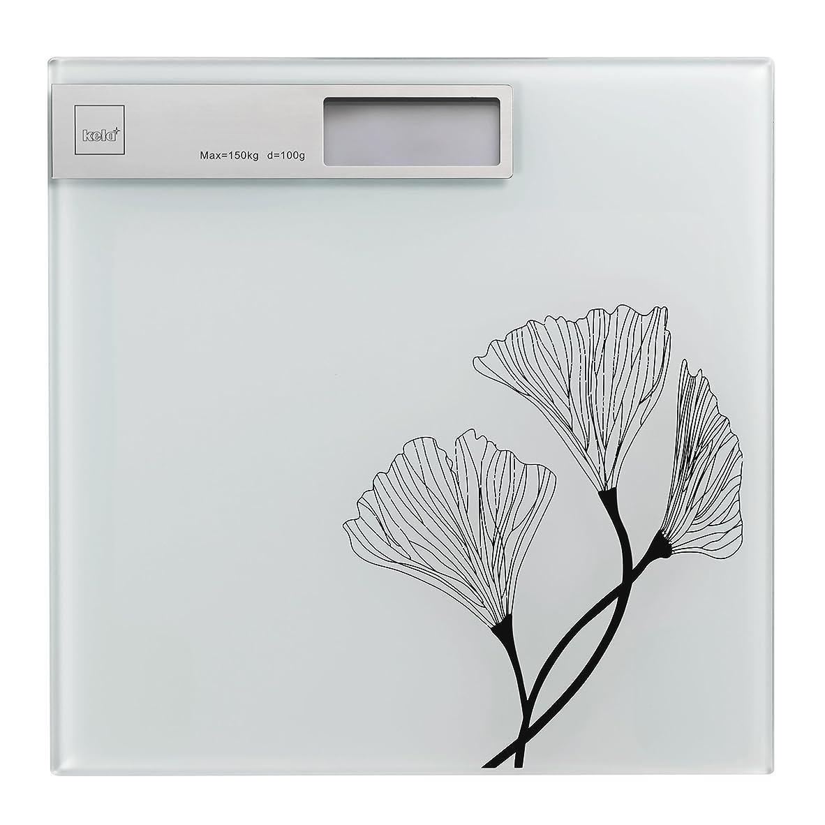 セマフォヘッジ乱用Kela(ケラ) ホワイト サイズ:30×30×H2cm バスルームスケール Kalla 21282