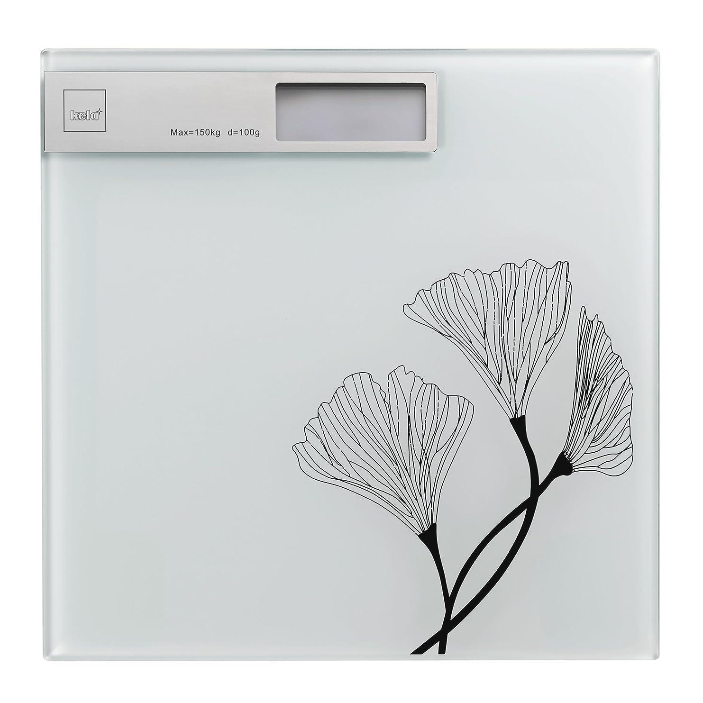 尊厳他に集めるKela(ケラ) ホワイト サイズ:30×30×H2cm バスルームスケール Kalla 21282