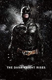 "Trends International DC Comics Movie - The Dark Knight Rises - Batman Rain Wall Poster, 22.375"" x 34"", Premium Unframed Ve..."
