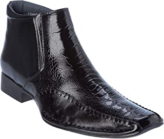 prague02 Mens Oxford Style Western Boots Dress-Shoes