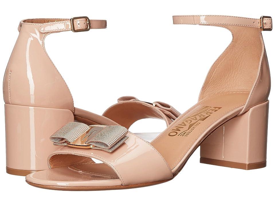 Salvatore Ferragamo Gavina (New Bisque Patent) High Heels