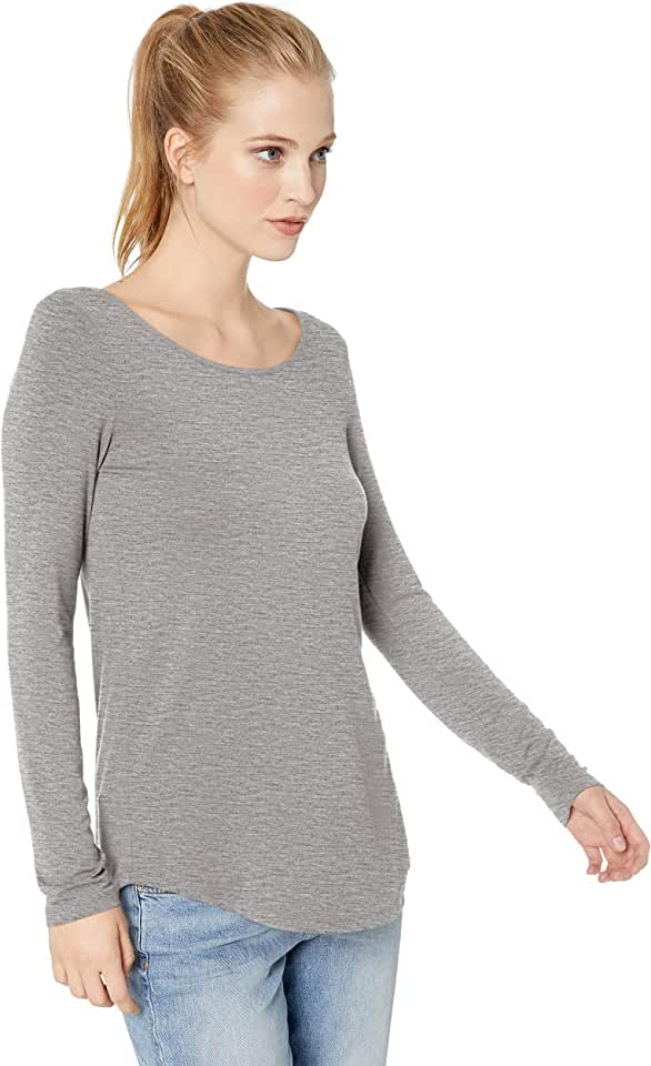 Amazon Brand - Daily Ritual Women's Jersey Long-Sleeve Scoop Neck Tunic