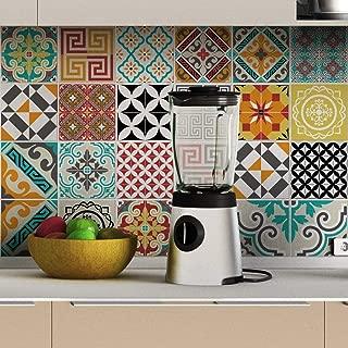 Ambiance-Live col-tiles-ros-a916//_ 15/x 15/cm Stickers Adhesivos carrelages Set de 30/piezas multicolor 15/x 15/cm