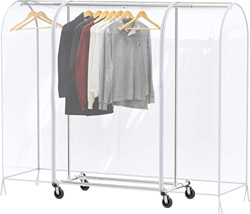 high quality Simple online sale Houseware Clear Garment online sale Rack Cover online